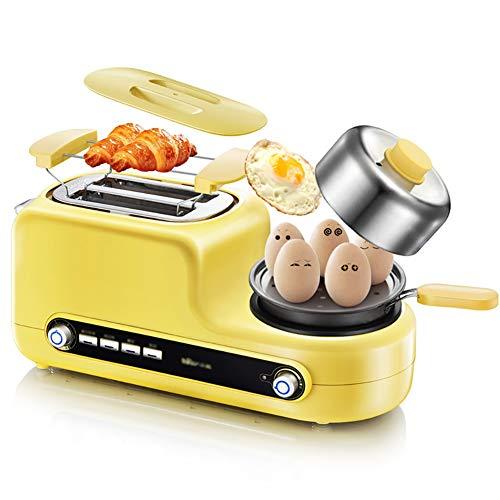 Toaster,2 Scheiben Toaster, 5 In 1 Frühstücksmaschine, Eierbecher, Mini-Topf Und Dampffarer -6...