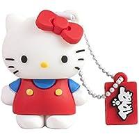 Tribe FD004303 Hello Kitty Pendrive 4 GB Simpatiche Chiavette USB Flash Drive 2.0 Memory Stick Archiviazione Dati, Portachiavi, Classic, Rosso