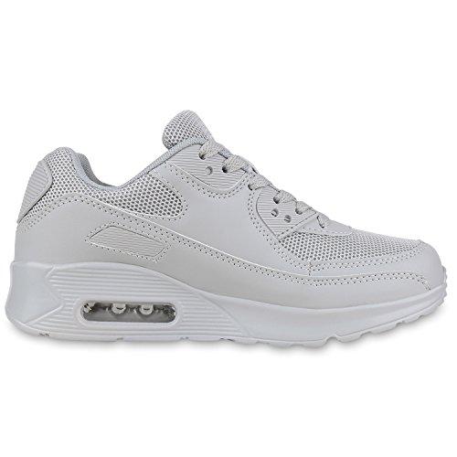 Knallige Damen Herren Unisex Sportschuhe | Auffällige Neon-Sneakers | Sportlicher Eyecatcher für Ihren Alltags-Look | Angenehmer Tragekomfort | Gr. 36-45 Grau Grau