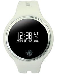 Smartwatch Demiawaking Reloj Inteligente E07 Movimiento GPS Deportes y Salud Tracker Smart Bracelet Muñeca (Blanco)