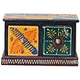 APKAMART Handicraft Jewelry Box - 5 Inch - Decorative Box Cum Utility Box For Table Decor, Home Decor, Desk Organizing And Gifts
