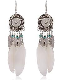 Earrings For Girls Fancy Party Wear Silver Alloy Dangle & Drop Earrings For Women (ER37bhoslvlfwht)