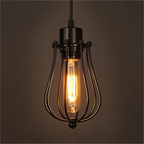 Eisen Käfig Lampenschirm Vintage Pendelleuchte Retro Indoor Hängende Beleuchtung für Wohnzimmer Esszimmer E27 Basis (Lampe nicht Im Lieferumfang enthalten) (Der Hai Eisen)