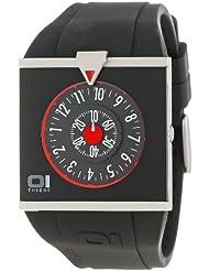 Binary THE ONE Spinning Wheel AN04G03 - Reloj de caballero de cuarzo, correa de goma color negro