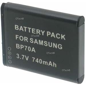 Otech D126SN Batterie pour Appareil Photo Numérique de type Samsung BP-70A 3,7 V 670 mAh