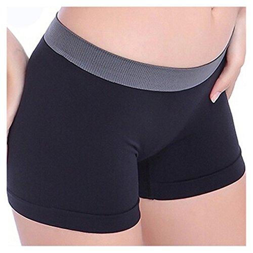 Tefamore Damen Sport Fitness-Studio Yoga Shorts , Women Bund Dünne Elastische Taille Lässig Bequeme Running Shorts (Schwarz) (Shorts Laufen Yoga)