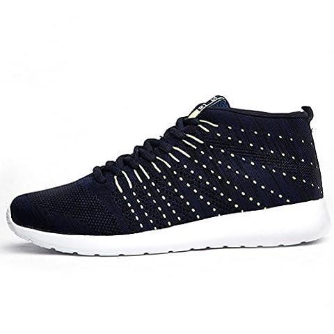 Männer Mesh schnüren sich Trekking und Walking Schuhe atmungsaktive leichte Casual Schuhe verschleißfeste Deodorant Lauf Wanderschuhe , dark blue , (Dark Pink Suede Schuhe)