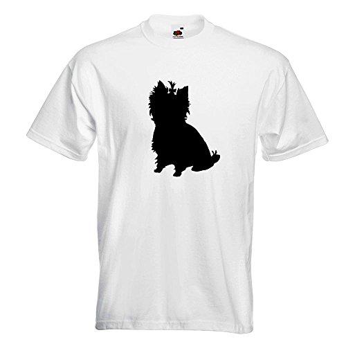 KIWISTAR - Yorkshire Terrier Hunderasse T-Shirt in 15 verschiedenen Farben  - Herren Funshirt bedruckt
