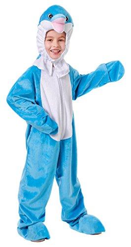 Bristol Novelty CC168 Delphin Kostüm mit Kopf, Weiß