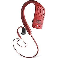 JBL Endurance SPRINT - Écouteurs intra-auriculaires de sport sans fil - Bluetooth et étanches - Avec commande tactile pour appels - Autonomie jusqu'à 8 hrs - Rouge