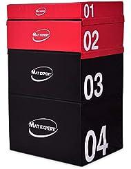 COSTWAY Soft Jump Box Stapelbar, Sprungkasten aus PVC, Plyo Box gepolstert, Sprungbox mit Klettverschlüssen, Jump Box Set Farbwahl, Sprungtrainer für plyometrisches Training