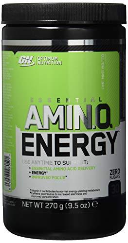 Optimum Nutrition Amino Energy Pre Workout Booster Pulver (mit Beta Alanin, natürliches Koffein, Aminosäuren und Vitamin C von ON) Lime Mint Mojito, 30 Portionen, 270g