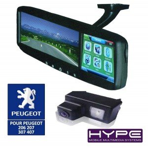 hype hv4321ca700 retroviseur gps camera de recul peugeot high tech. Black Bedroom Furniture Sets. Home Design Ideas