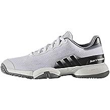 Adidas Barricade 2016 Xj, Zapatillas de Tenis Unisex para Niños, Blanco (Ftwbla/