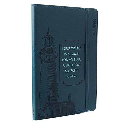 Journal - Lux-Leather - Navy Blue Lighthouse by Christian Art Gifts (Creator) (29-Sep-2014) Imitation Leather
