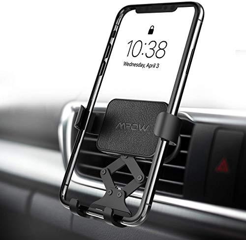 Mpow Supporto Auto Smartphone di gravità per Bocchetta dell'Aria, Operare con Una Sola Mano, Robusto Porta Cellulare da Auto per iPhone 11 Pro Max XS Max XR X 8, Galaxy S10 S9 S8, Huawei, Xiaomi,