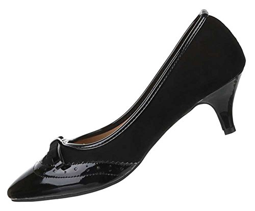 Damen Schuhe Pumps Klassische Schwarz