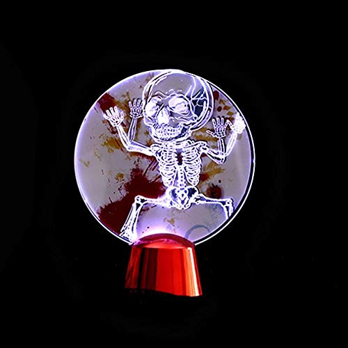 - Halloween Standing Pumpkin Skeleton Toys Ornaments Figurines Popular Terror Flash Acrylic Festival - Metal Miniatures Silver Figurines ()