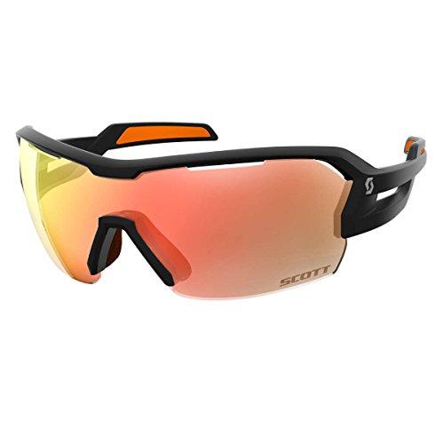 Scott Spur Fahrrad Wechselscheiben Brille schwarz/orange/rot chrome amplifier (Chrome Frame Schwarz)