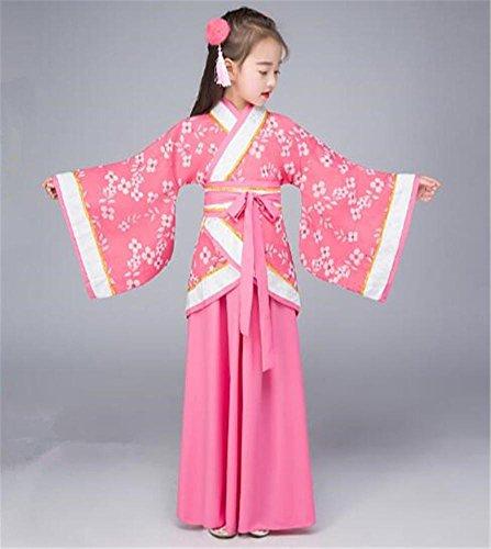 Peiwen costumi di danza classica cinese/spettacoli teatrali/mostra abiti/bambini e adulti, rose, 130cm