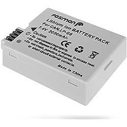 Fosmon Canon Batterie LP-E8/ LPE8,Remplacement Batteries,[Haute Capacité](2000mAh) Batteries de Rechange pour Canon EOS 650D 600D 550D 700D,Rebel T2i T3i T4i T5i,Kiss X4 X5 X6 X7i LC-E8E DSLR Caméras