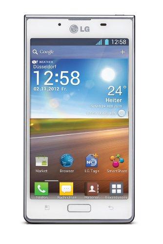 LG LG P700 Optimus L7 Smartphone 10,92 cm (4,3 Zoll) Touchscreen, 5 Megapixel Kamera, UMTS, WiFi, Android 4.0) weiß