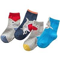 Hibote New Kids Snowflake Deer Impreso Algodón Calcetines Casuales Niños Niñas Caja Regalo Navidad Calcetines