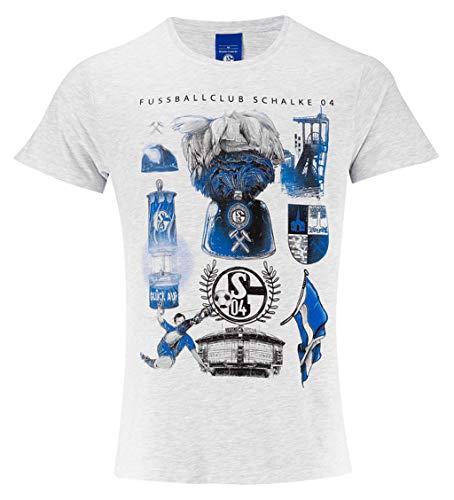 FC Schalke 04 Herren T-Shirt Heritage grau (XL)