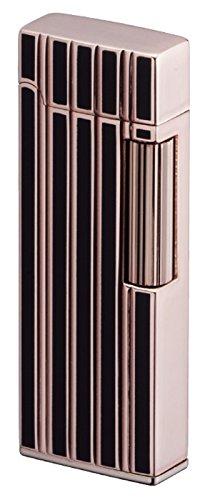 Sarome Flint Lighter SD9-34 Rose gold / Black line diamond cut by Sarome - Cut Gold Diamond