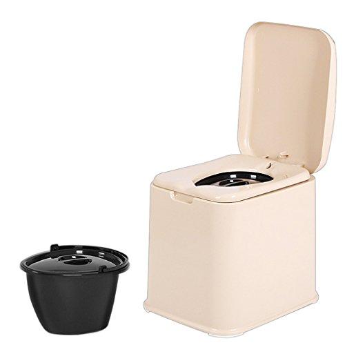 LI JING SHOP - Carré Portable Chaises de Toilette Chaises Siège de Toilette peut Se déplacer Non-slip Bottom pour les Femmes Enceintes Enfant Vieil Homme 39.5X48.5X43.5 cm Couleur: Kaki ( Couleur : Anti-slip rubber particles )