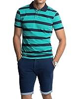 EDC by Esprit Men's Vip Stripw Striped Short Sleeve Polo Shirt