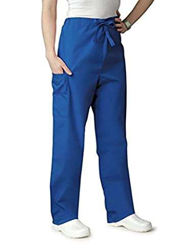 Adar Universal Unisex Natural-Rise Drawstring Tapered Leg Pants - 504 - Royal Blue - L