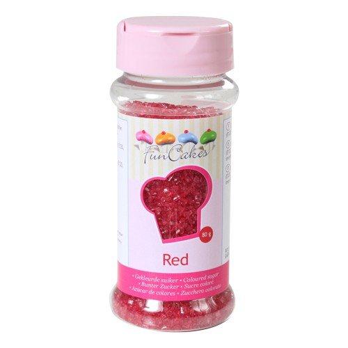 Cristalli di zucchero rossi 80 grammi