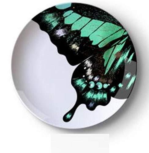 skygvvege Platte Fornasetti Dekoration 10 Zoll Farbe Keramik Hängende Platte Abstrakte Wand Hängen Restaurant Bar Schaufenster Wand Dekorative Wanddekoration -