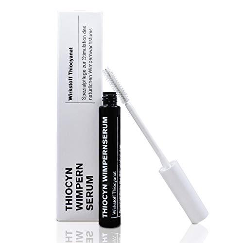 Thiocyn Wimpernserum & Augenbrauenserum - 8ml- ohne Hormone - Spezialpflege zur Stimulation des natürlichen Wimpernwachstums für längere, kräftigere Wimpern und dichtere Augenbrauen - MADE IN GERMANY