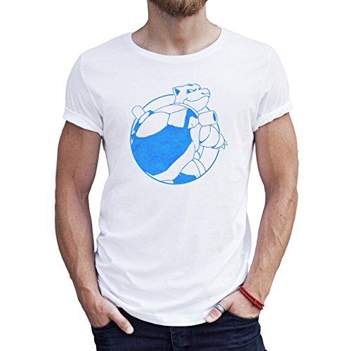 Pokemon Go Blue Team Logo Quality Herren T-Shirt Weiß