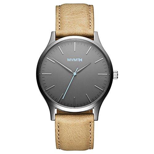 MVMT Watches 40 Series Herren Uhr Gunmetal/Sandstone Leather
