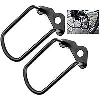 runacc bicicleta desviador inversa duradero desviador Protección Premium desviador protectores, 2unidades, color negro