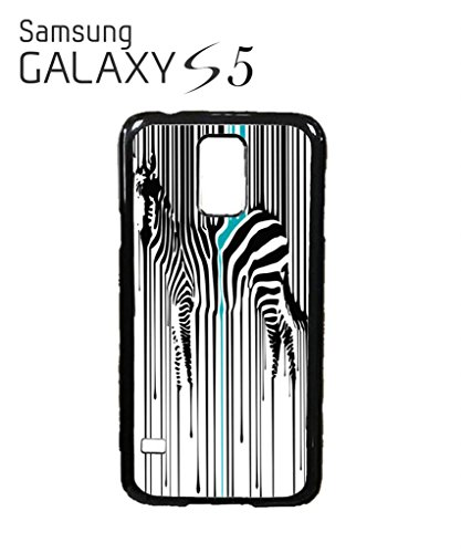 Dripping Zebra Art Animal Barcode Cool Funny Hipster Swag Mobile Phone Case Back Cover Hülle Weiß Schwarz for Samsung Galaxy S4 Mini White Schwarz