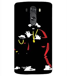 PrintVisa Hip Hoppers Neon Silhouette 3D Hard Polycarbonate Designer Back Case Cover for LG G3 MINI