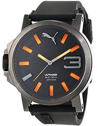 Puma Time Herren-Armbanduhr PU-ULTRASIZE 50 S BLACK ORANGE Analog Quarz Silikon PU103911001