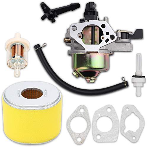 Kaymon 16100-ZH8-W61 16100-ZF6-V01 Vergaser-Luftfilter für Honda GX390 13HP Rasenmäher Generator Wasserpumpen mit Vergaserdichtung Gas Kraftstofftank Gelenkfilter