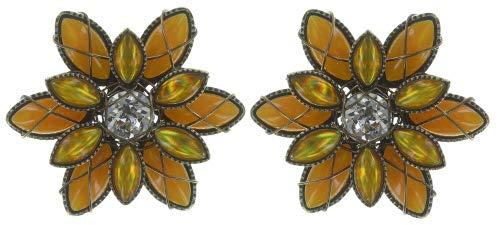 Konplott Ohrringe Psychodahlia brass yellow