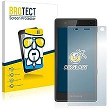 BROTECT AirGlass Protector Pantalla Cristal Flexible Transparente para Fairphone 2 (2015) Protector Cristal Vidrio - Extra-Duro, Ultra-Ligero, Ultra-Claro