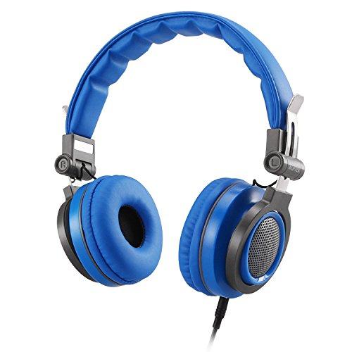 Auriculares de Diadema para Niños con Cable 3.5mm Jack, AGPTEK Cascos Cierrados Ligeros y Ajustable con Volumen Limitado de 85dB, Ideal Regalo para Niños de 6-12 Años, Color Azul