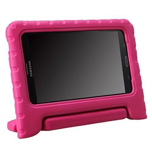 NEWSTYLE Samsung Galaxy Tab 4 7.0 Kinder Hülle Case mit umwandelbarer Handgriff Superleichte Stoßfeste Schutzhülle Tasche Cover für Samsung Tab 4 SM-T230/T231/T235 (7 Zoll) - Pink (7 Zoll Tablet Tasche Für Mädchen)