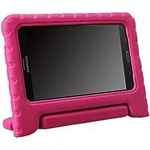 NEWSTYLE a prueba de golpes para niños mango de EVA funda Convertible función atril para Samsung Galaxy Tab 4 7.0 SM-T230 SM-T231 SM-T235 (Rosa)