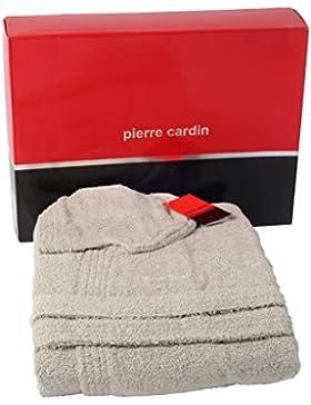 Pierre Cardin Basic - Albornoz de rizo, unisex, varias tallas, color liso
