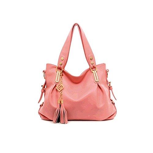 xiaoxuan europei e americani moda borse a tracolla per le donne, Deep Blue (blu) - BG00002E Pink
