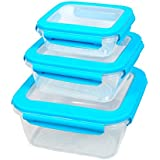 GKW Plastic Storage Containers (Set of 3 pcs), Blue